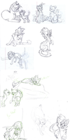 TGB - Warrun Sketches by FrostheartIsSiamese