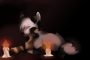 Candle lit night by Mishamutt