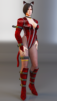 Ada Wong Kitty Outfit Render by Ada-Momiji-Forever