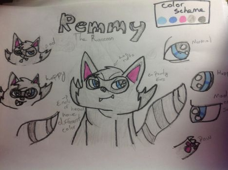 Remmy the Raccoon (Original Character) by ShimmeringDaylight