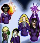 House of Night Characters by avafreak