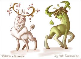 Blossom and Swampie by Kat-Nicholson
