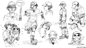 [Paranoia Agent] Shounen Bat/Lil' Slugger Sketch. by cacogenic