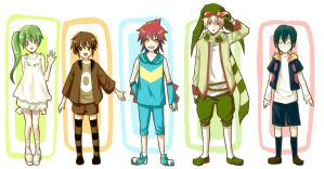 Pokemon Gijinka by sdPink
