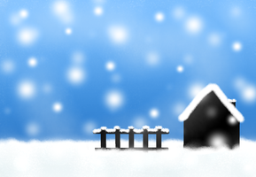 Home in the Snow by LilyKittyCat
