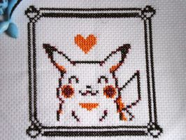 Cross stitch Yellow's Pikachu by Miloceane