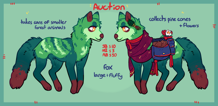 Forest fox auction / closed by Dogquest