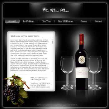 Wine Store site by Nas-wd