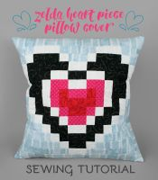 Sewing Tutorial: The Zelda Heart Piece Pillow by SewDesuNe