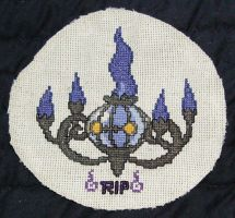 Chandelure Cross Stitch by LaPetitLapearl