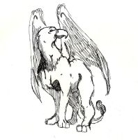 Gryphon Pensketch 1 by Zethelius