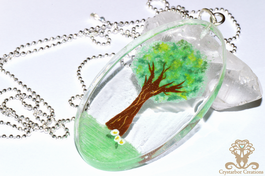 Polymer clay and Resin Tree by Crystarbor