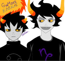 Gamzee And Karkat by Gumball-Star7
