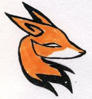 tribal fox head by midniteoil