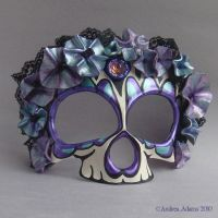 Leather Sugar Skull Mask by Beadmask