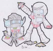 Ratchet and Wheeljack Playing by Sidian07