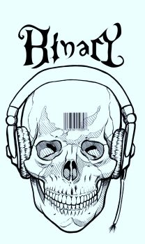 Skull N Headphones Inked by Snigom