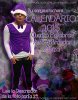 Calendario 2015 de Brandon Meza by MustachermE