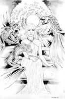 Daenerys Targaryen / Mother of Dragons by jasonbaroody