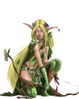 Warhammer elf coloring by M1keN