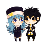Gruvia chibi couple by Wosda
