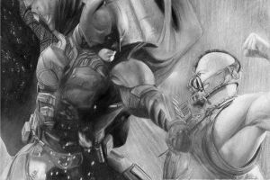 Batman vs bane by Hottie100