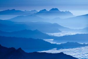 Blue Alps III by Addran