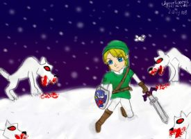 Cornered in the Snow... by PokemonMaster04