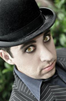 Gothic guy with Hazel eyes by mykmedia