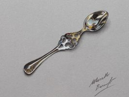Absinthe Spoon drawing by Marcello Barenghi by marcellobarenghi