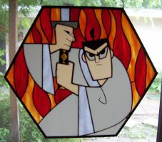samurai jack stained glass by CindyCrowell