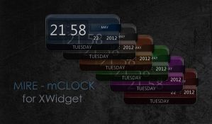 Mire - mClock for XWidget by boyzonet
