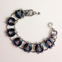 Steel and Crystal Bracelet by chef-chad