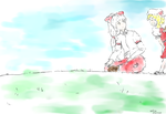 Mokou and Flandre by vptran