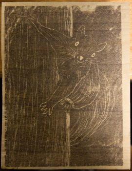 Squirrel Woodblock image - WIP by brwainer