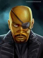 Nick Fury by SteveMillersArt