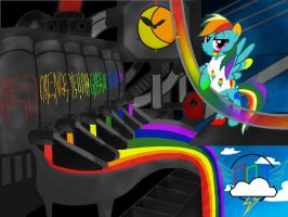 Rainbow Factory by SweetElectricity