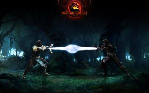 MK Sub-Zero vs Noob Wallpaper by BASTART-D3SIGN