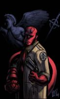Paint-sketch: Hellboy II by dio-03