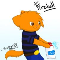 Fireball :Toontown Request: by LightAnimaux