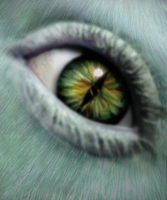 looking at the eye of an alien by crazyinksplatter