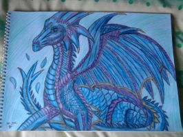 Water dragon Aquilla by lustyvampire