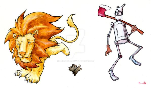 Lion, Toto and the Tinman by lervold