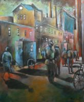 To Work Oil Paint by Boias