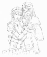 High Priestess and High Wizard by LadyDazz