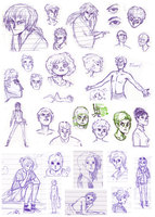 Sketches, April 2012 by HannaKN