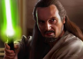 Star War Qui-Gon Jinn by OCMay