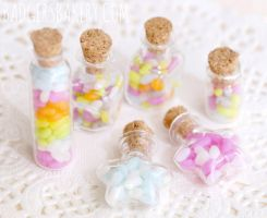 Jelly Bean jars by BadgersBakery