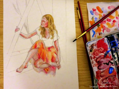 Watercolor WIP by limona1