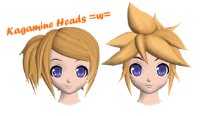 Lovely Kagamine hair =w= by Dan1024